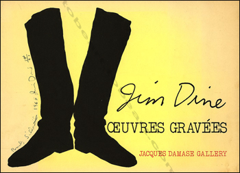 Jim DINE - Oeuvres gravées. Paris, Jacques Damase Gallery, (1974).