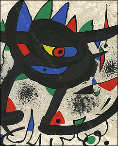 Joan Miro - Paintings, Gouaches, SOBRETEIXIMS, Sculpture, Etchings.