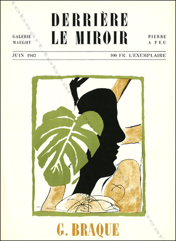 Georges BRAQUE - DERRIERE LE MIROIR N°4. Paris, Maeght, 1947.